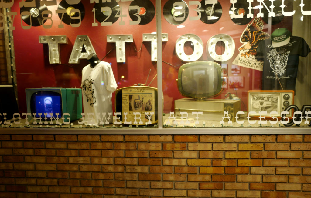tattoo, retro, televisions, shopping, steamboat-springs, photography, leica,